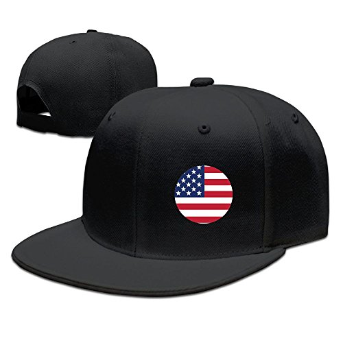 Price comparison product image Baseball Cap US Flag Hip-hop Flat Edge Cap Sunhat Fashion Leisure Hat with Adjustment Buckle for Men