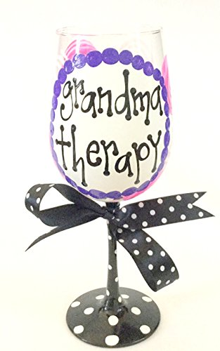 Grandma Therapy Wine Glass