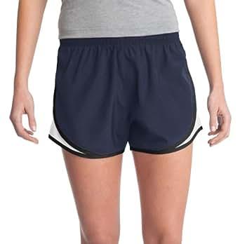Sport-Tek Women's Elastic Waistband Cadence Short_True Navy/White/Black_2XL