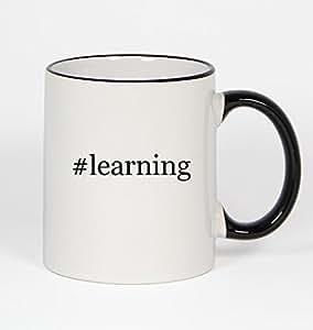 #learning - Funny Hashtag 11oz Black Handle Coffee Mug Cup