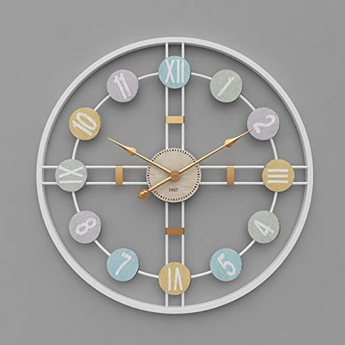 Mooka Group New 3D Hanging Clock 50Cm Europe America Fashionable Style Iron Silent Wall Clock Absolutely Silent Bedroom Decor for Home Decor - A2