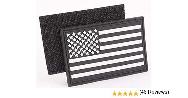 PVC táctica parche de bandera de Estados Unidos – blanco y negro: Amazon.es: Juguetes y juegos