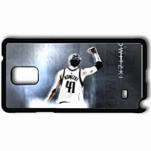 Personalized Samsung Note 4 Cell phone Case/Cover Skin 14974 Dirk Nowitzki by Rizzla76 Black