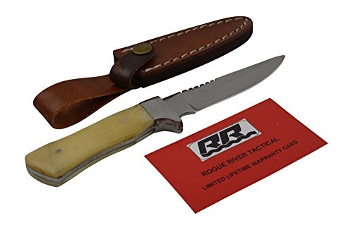 Rogue-River-Tactical-Knives-Hunting-Knife-Small-Straight-Back-Fixed-Blade-Bone-Handle-Skinner-Skinning-Knife
