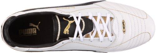 Puma liga finale I FG 102003 zapatos de los deportes fútbol para hombre Blanco (Weiss/White-Black-Team Gold)