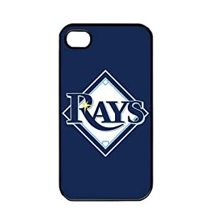 MLB Major League Baseball Tampa Bay Rays Apple iPhone 4 / 4s TPU Soft Black or White case (Black)