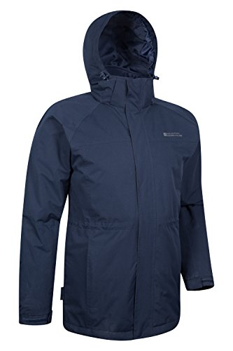 ajustable bolsillos Mountain Mens Marino la invierno capa Azul larga del Westport longitud más capa una hidrófuga de dobladillo larga de Mens Warehouse Chaqueta RzSRrIq4