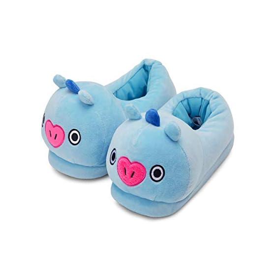 MANG Plush Slippers | BTS X Line Friends - Purple 1