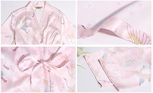 Di Di Spa Stampa Donna Pink Camicia Hotel Camicia Lusso Sexy Da Accappatoi Notte Casa Da Per Seta Sleeper Da Camicia Le Per Signore Notte Kimono Pigiama d6FwnUqwY