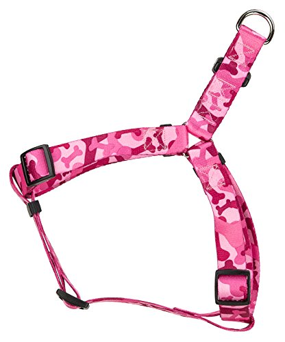Country Brook Design Pink Bone Camo Step-in Dog Harness - Small