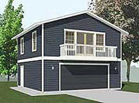 Garage plans 2 car with full second story for Metal garage with apartment