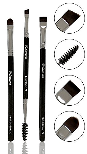 Eyebrow Brush - Duo Eye Brow Spoolie - Angled Eyeshadow Eyel