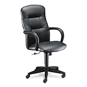 HON 3301SS11T Allure Executive High-Back Swivel and Tilt Chair, Black Leather