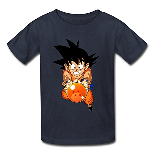 [AOPO Dragon Ball Z Resurrection F T Shirts For Kids Unisex X-Large Navy] (Super Saiyan Goku Wig)