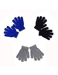 LIMARIO Kid's Winter Warm Magic Gloves - Children Stretchy Warm Knit Glovers