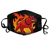 Unisex Red Hell Dog Printed Cotton Mouth-Masks Face Mask Polyester Anti-dust Masks