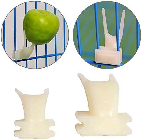 GUOYIHUA Juego de hámster de plástico para pájaros y frutas en la jaula