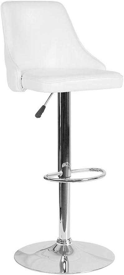 Flash Furniture White Leather Barstool