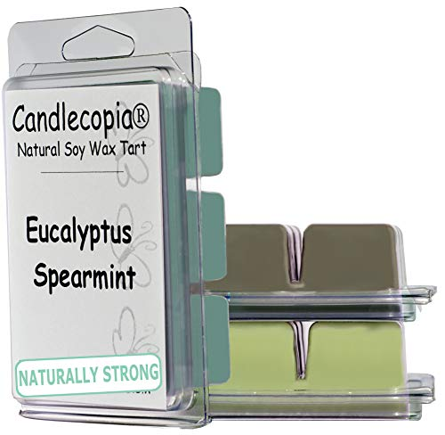 Candlecopia Balsam & Cedar, Eucalyptus Spearmint and Cucumber Mint Strongly Scented Hand Poured Vegan Wax Melts, 18 Scented Wax Cubes, 9.6 Ounces in 3 x 6-Packs ()