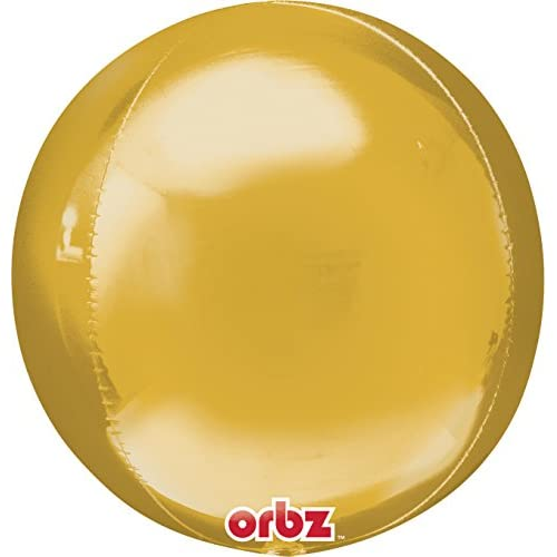 """Top Anagram International Orbz Gold Flat Balloon, 16"""", Multicolor for cheap"""