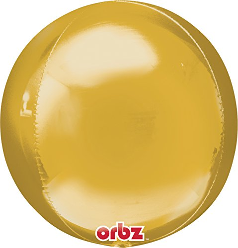 Anagram Halloween Balloons (Anagram International 2820599.0 Orbz Gold Flat Party Balloon, 16
