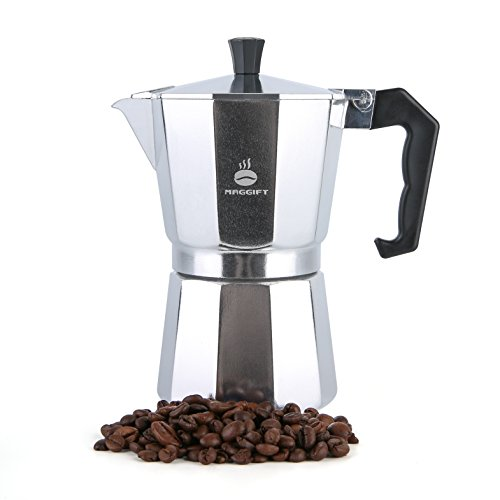 Maggift Stovetop Coffee Maker, Aluminum Italian Moka Pot (6 Cup)