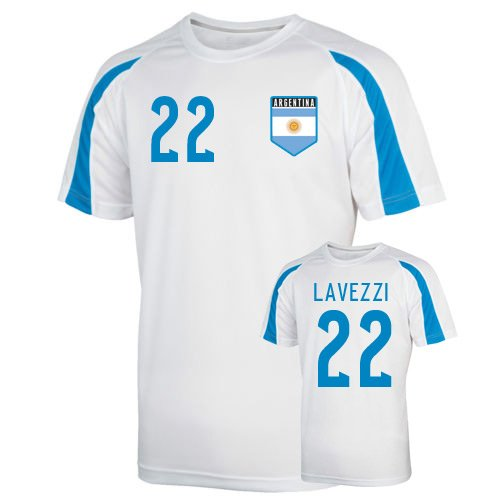 Argentina Sports Training Jersey (lavezzi 22) B074BTFS4MWhite Medium (38-40\
