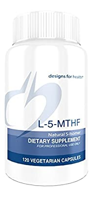 Designs for Health L-5-MTHF Capsules, 120 Count