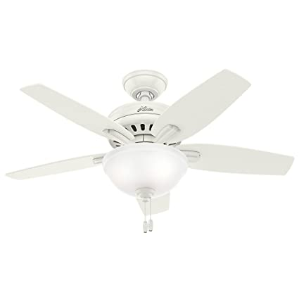 hunter 51086 newsome ceiling fan with light 42 small fresh white rh amazon com