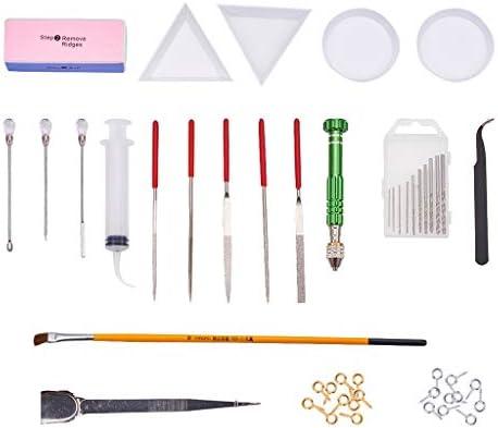 sharprepublic レジン クラフト キット 工具 ツール ディスク ドリル ピンセット 研削工具 攪拌棒 ドリルビット