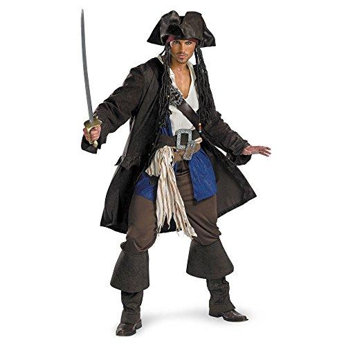 Captain Jack Sparrow Prestige Premium Adult Costume - Medium