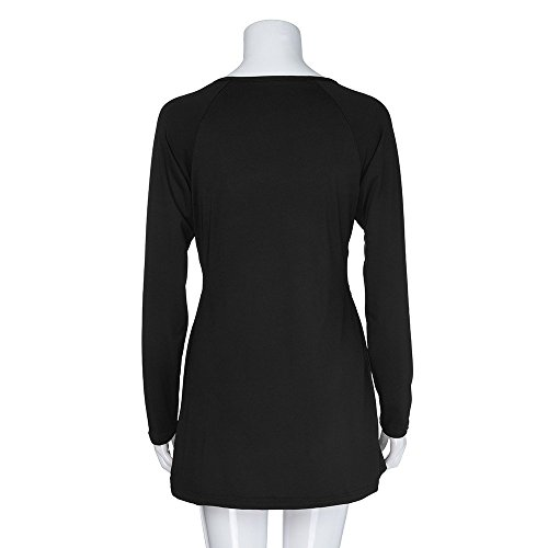 HHei_K Womens Sexy Low-Cut V Neck Raglan Long Sleeve Ruched Twist Front Plain Color Loose Flare Shirt Tops by HHei_K (Image #5)