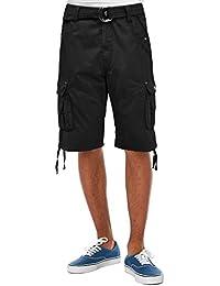 Mens Super Comfy Poplin Belted Cargo Fairfax Shorts