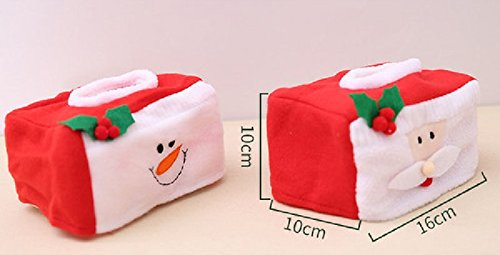 Size M Christmas Rectangle Applique Tissue Box Cover Paper Holder Home Decor Xmas Gift