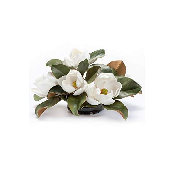 PETALS Magnolia Silk Floral Centerpiece