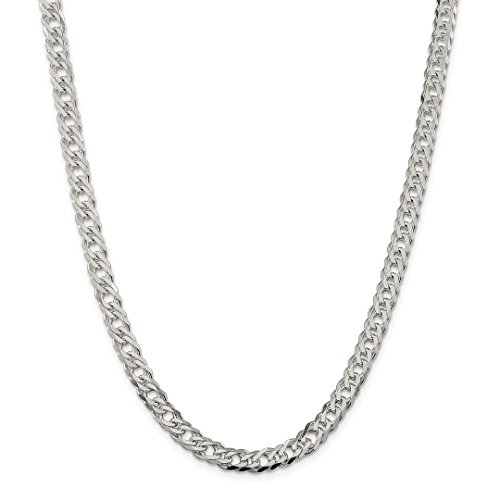 Designer Link Double Necklace (ICE CARATS 925 Sterling Silver 6.25mm Double 6 Side Flat Cuban Link Chain Necklace 20 Inch Curb Fancy Fine Jewelry Ideal Gifts For Women Gift Set From Heart)