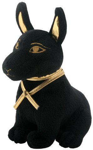 SUMMIT COLLECTION Black and Gold Ancient Egyptian Anubis Dog Puppy Small Plush Doll ()