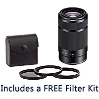 Sony 55-210mm f/4.5-6.3 OSS E-Mount Camera Lens. #SEL55210 Value Kit with Acc