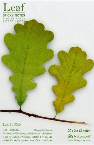 Free b.b.begonia Leaf_ Oak Sticky Notes, Green, Medium