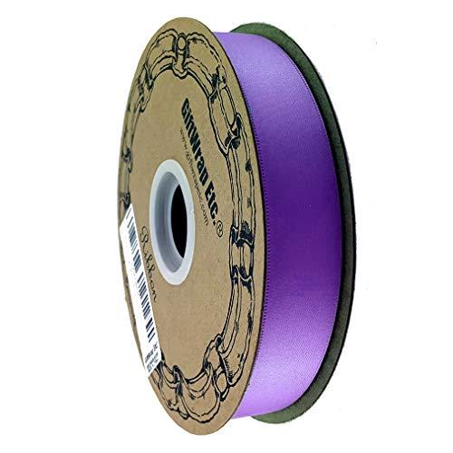 Purple Ribbon Rose Awareness - Purple Satin Fabric Decorative Ribbon - 1