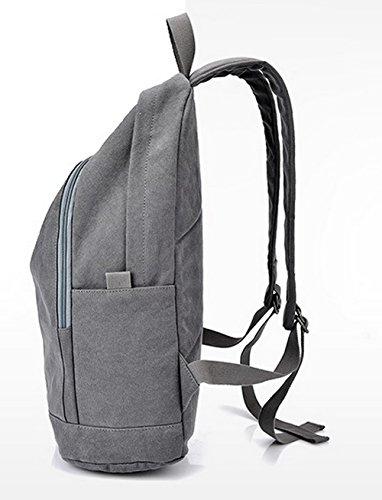 Zippers Daypacks Daypack dos Femme Mode Toile à randonnée Gris AllhqFashion de Sacs 7Ufw5Ryq