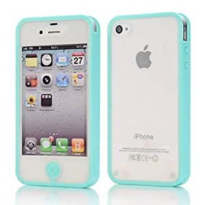 CeeMart PC Full Body Solid Colour Case for iPhone 4/4S - Pink