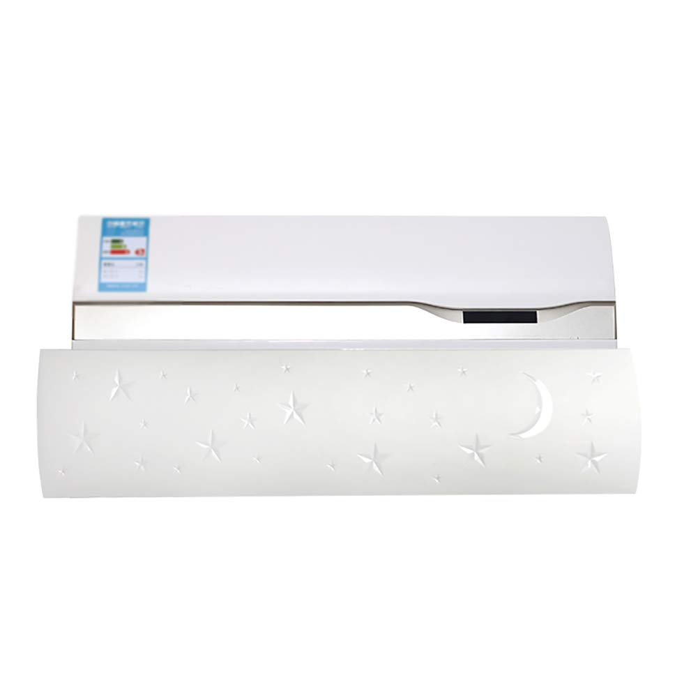 Air conditioning wind deflector Air Conditioning Windshield Wind Deflector Wall-Mounted Anti-direct Blow Home Air Conditioning (Color : White)