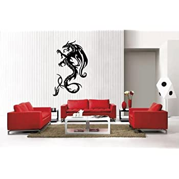 Amazoncom Newclew Dragon Removable Vinyl Wall Decal Home Décor - Removable vinyl wall decals for home decor