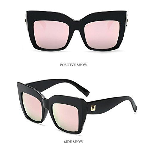 Cadre Femmes Sunglasses Lunettes de Soleil Grand Zhhlaixing Mode Irrégulier Des Soleil de Des Lunettes pink Nuances Hipsters Womens Surdimensionné 0tw1d