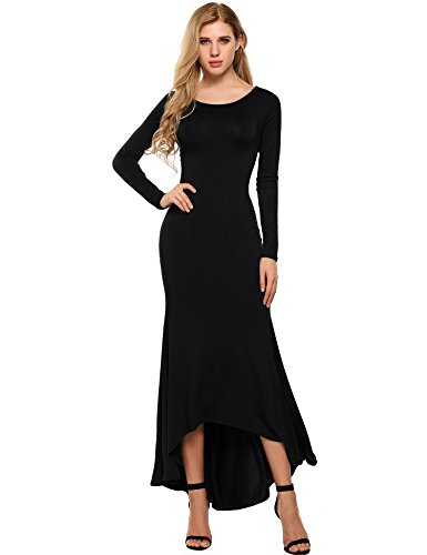 fitted backless maxi dress - 1