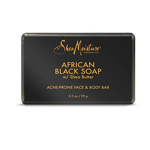 SheaMoisture African Black Soap | Acne Prone Face & Body Bar | 3.5 oz.