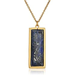 "CANVAS Rectangle Gemstone 30"" Sodalite Pendant Necklace, 30"" + 4"" Extender"