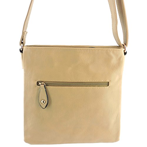 Purse Indie Beige Handbag Silver Comp Fever Tote Designed Crossbody 3 Small Style Hipster Fashion Pxg8t