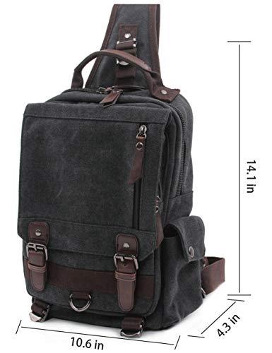 032fffaa75a Mygreen Sling Backpack for Men and Women One Shoulder Single Strap  Backpacks Canvas Laptop Cross Body